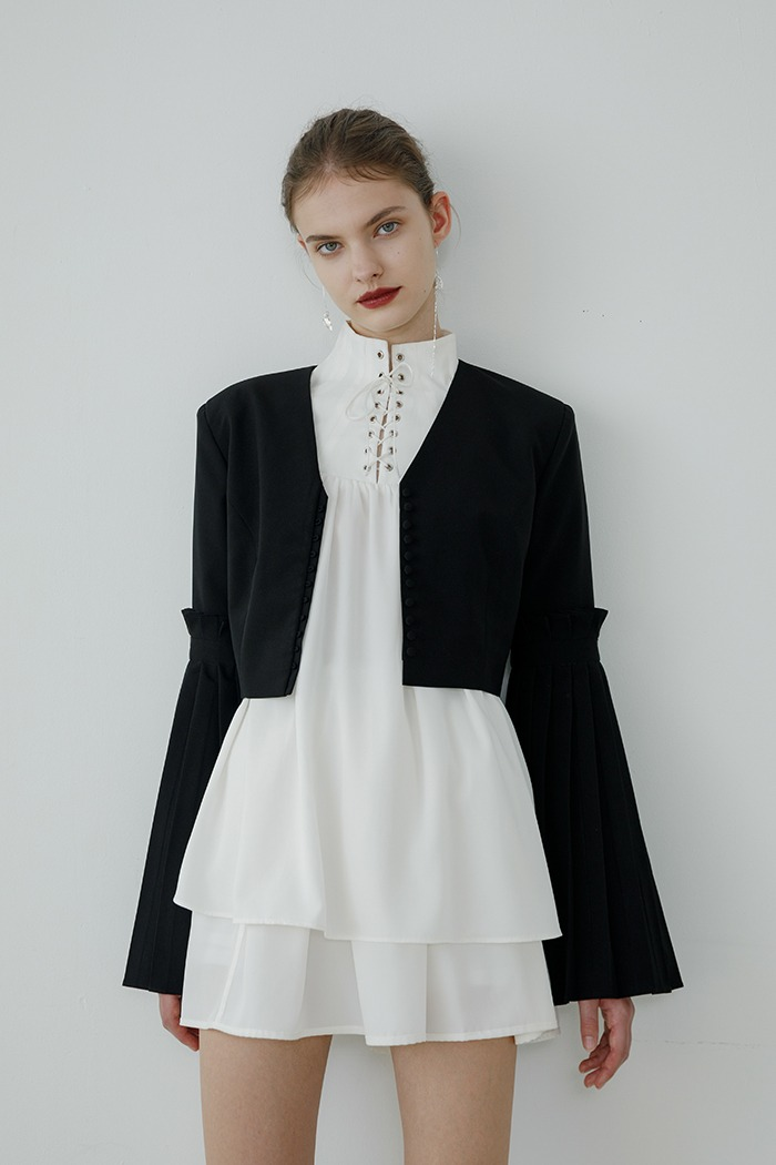pleats jacket (black)