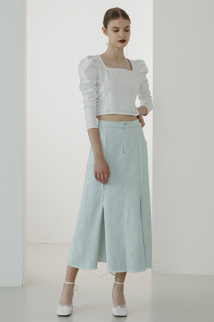 Mermaid denim skirt (light blue)